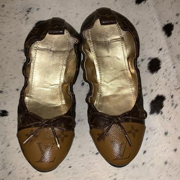 80a9b2b4c3f8 Louis Vuitton Shoes - Louis Vuitton Flirty ballerina flats 38